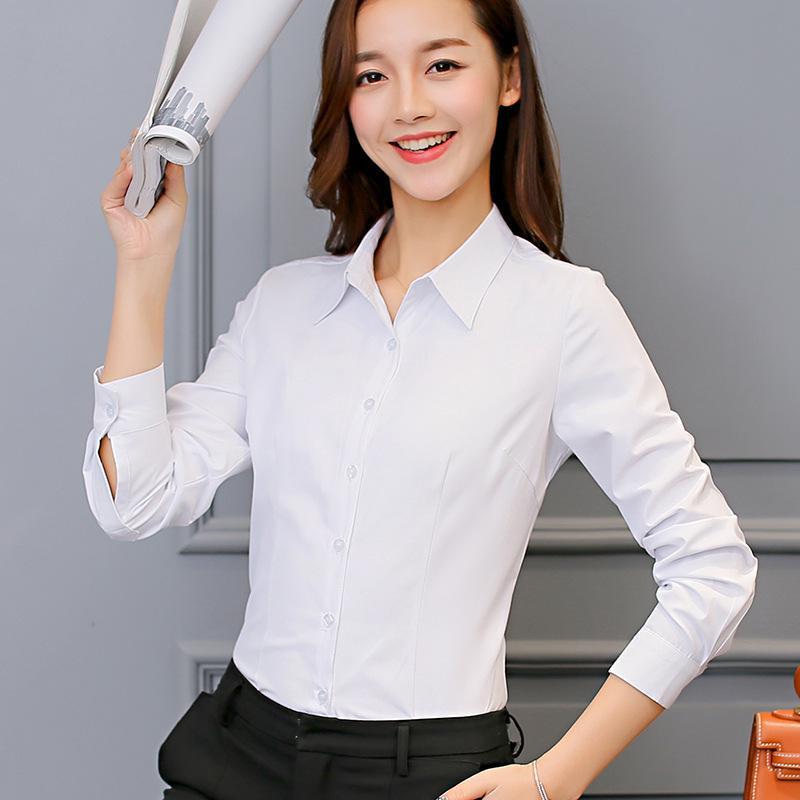 9286cd5ce20 Compre Camisa Blanca Ropa De Mujer Blusa De Manga Larga Camisa Casual De  Seda Coreana Moda Rosa Top Ropa Femenina A $28.56 Del Your04   DHgate.Com