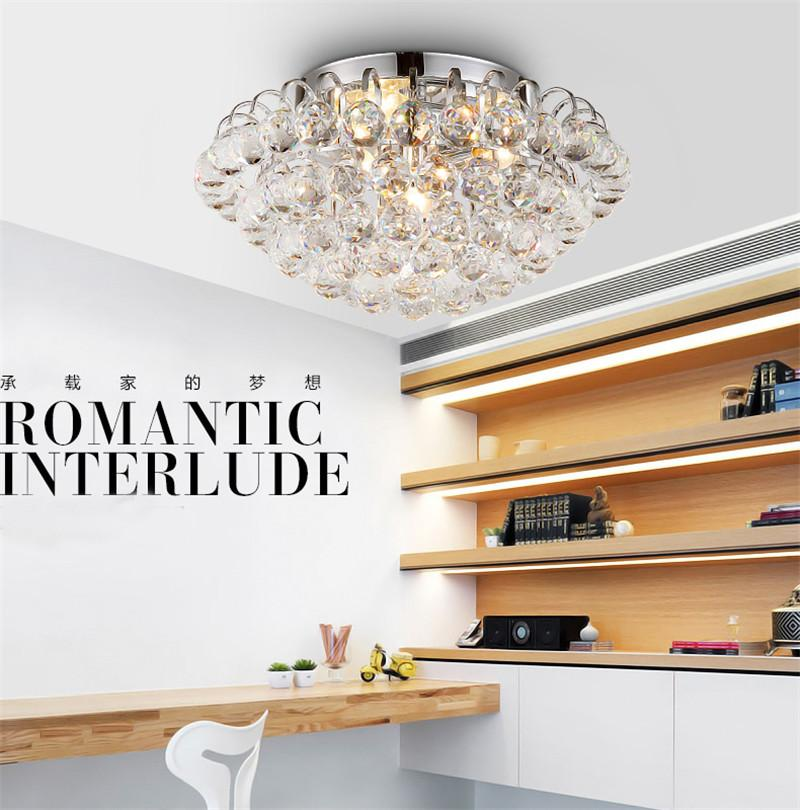 RMAMARY Ceiling lamps k9 crystal clear luxurious lamp round 80CM LED lamp 110-220V aisle restaurant living room ceiling