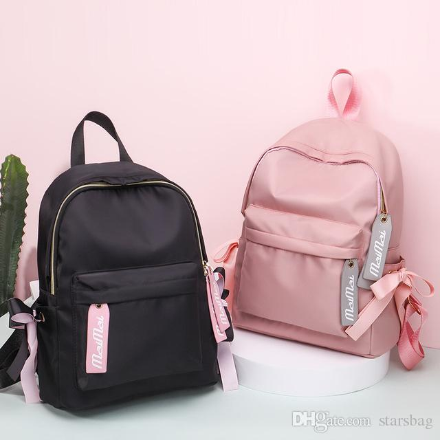 Waterproof Women Backpack Black And Pink