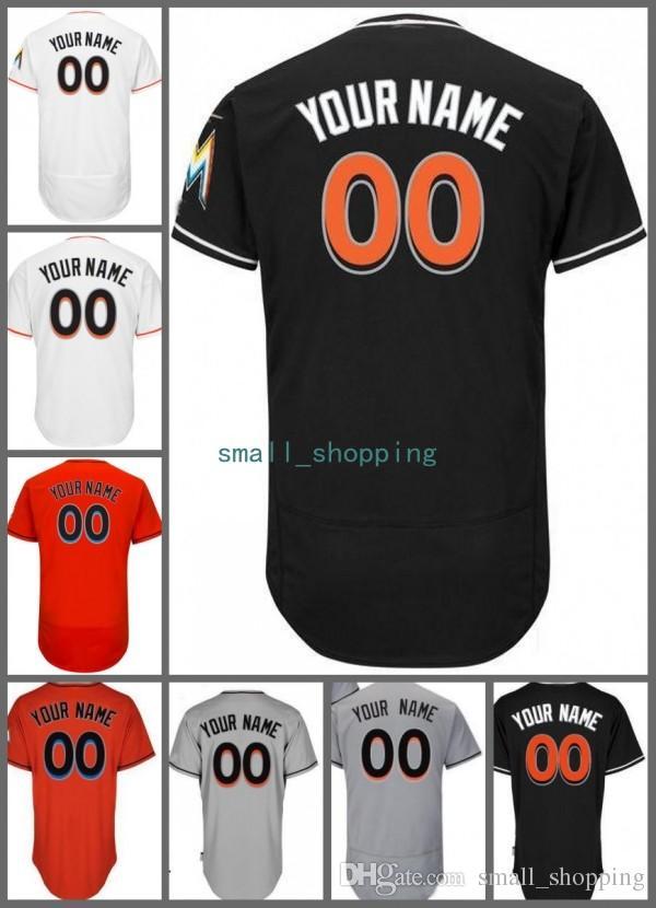 newest 280ab 61b09 Customized Miami Jose Fernandez Custom Baseball Jersey Ichiro Suzuki Dan  Straily Justin Bour JT Realmuto Christian Yelich Dee Gordon Prado