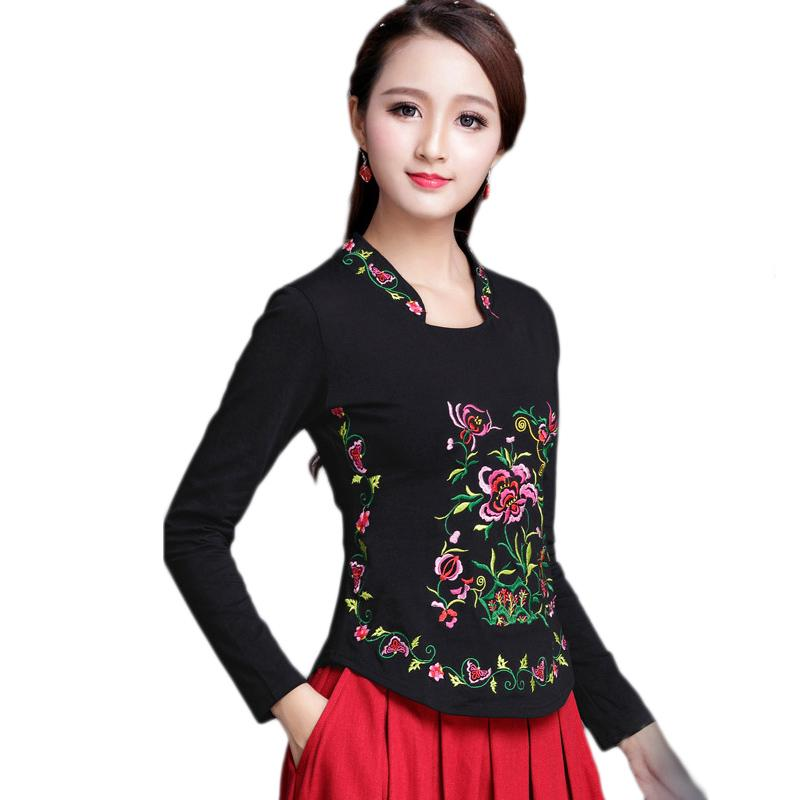 f1c72c4069 Traditional Chinese Shirt Clothing For Women Embroidery 5XL Qipao Elegant  Blusa Vintage Cheongsam Top Plus Size Ladies Clothes