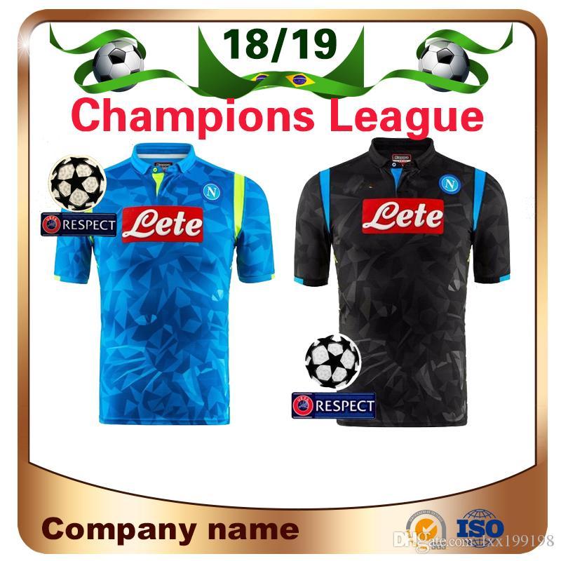18 19 Liga De Campeones Napoli Casa Azul Camisetas De Fútbol 2019 Napoli    17 HAMSIK   14 MERTENS   24 INSIGNE Fútbol Camiseta De Fútbol Uniforme  Ventas Por ... ab68a87aa0154
