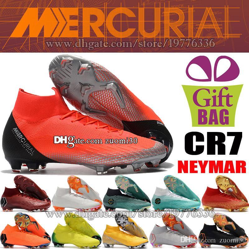 7a376bbfef Compre Novos CR7 ACC Futebol Sapatos Cristiano Ronaldo Mercurial CR7  Superfly VI FG Botas De Futebol Sapatilhas Neymar Botas De Futebol Meias De  Futebol ...