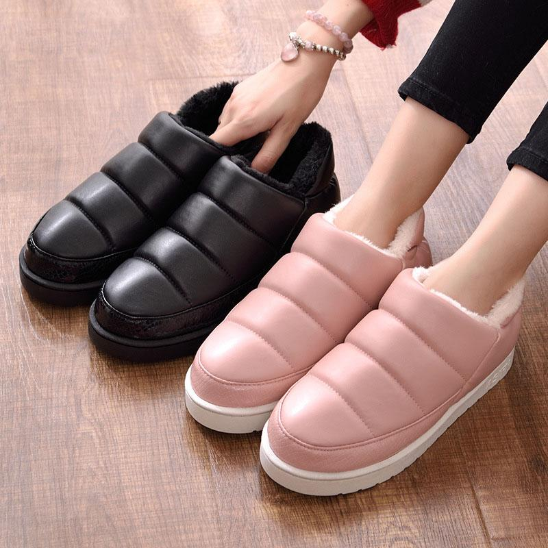 Masorini Winter Shoes Women Unisex Pu Leather Snow Boots Women Flats  Waterproof Boots Warm Ankle Fashion Shoes Wome W 366 Rain Boots For Women  Wedge Booties ... 3f2bdad8f3