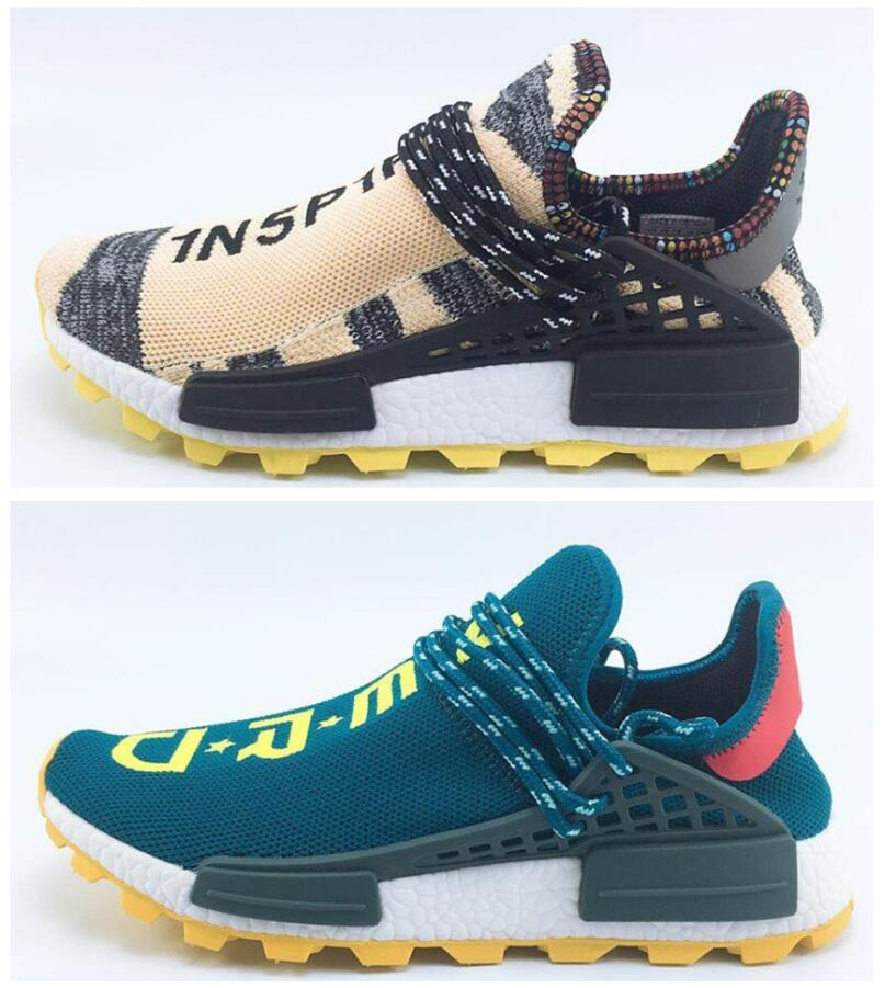 a1659a8ce Release Pharrell Williams Solar Hu Glide Hu Trail Human Race Man Running  Shoes Authentic Quality Running Shoes Sports Brookes Running Shoes Boys  Running ...
