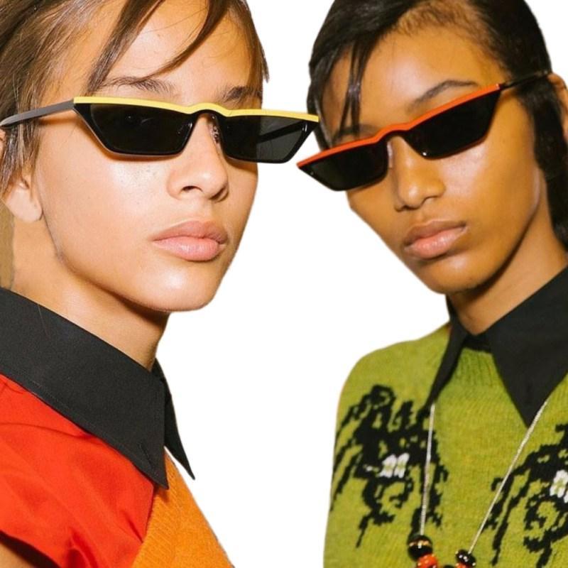 8dc0f26a21 Compre Eyewear Feminino Fit Rosto Redondo Óculos De Sol UV400 2018 New Hit  Color Wrap Frame Mulheres Óculos De Sol Pequeno Quadro Óculos De Sol De  Runyutian ...