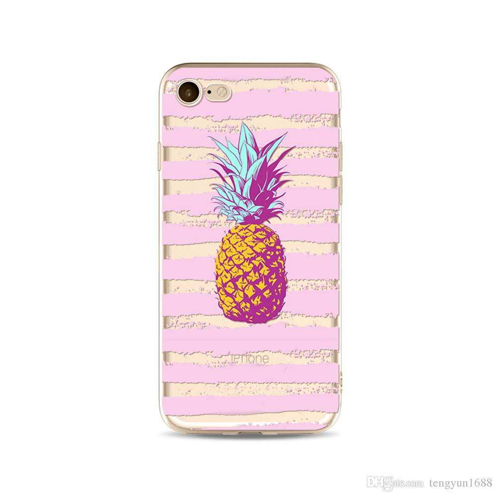 lowest price c7b78 364d9 For iPhone 7 / 8 Plus Case for Girls, Flexible Soft Slim Fit Protective  Cute Case with Pineapple Pattern for iPhone 7 /8--8 sizes