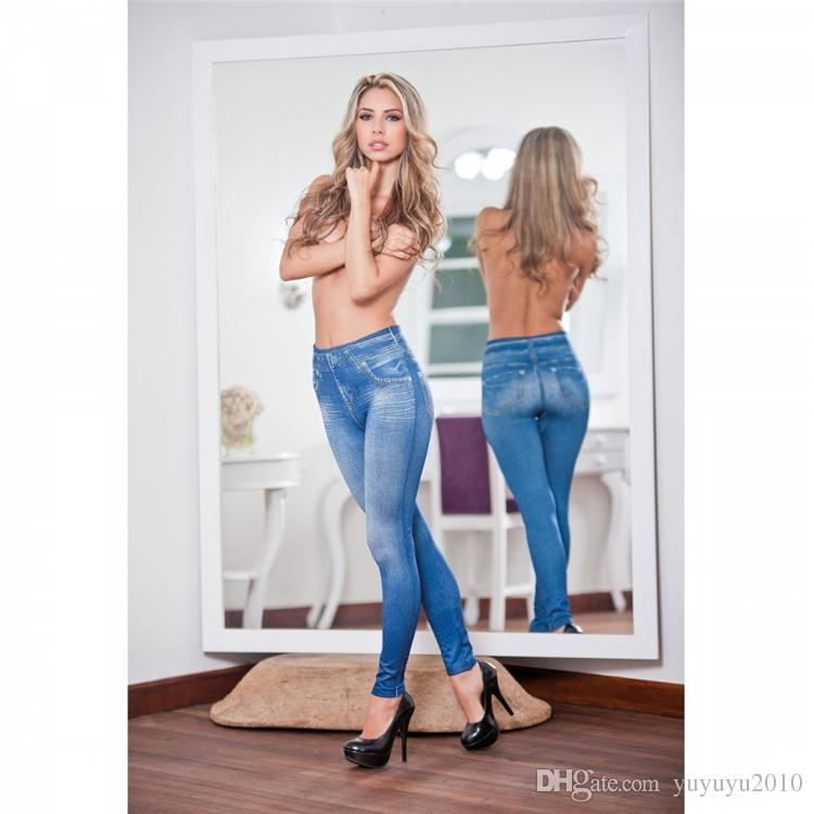 Jeans for women With High Waist Jeans Woman High Elastic plus size Women Jeans femme washed casual skinny pencil pants OM8242