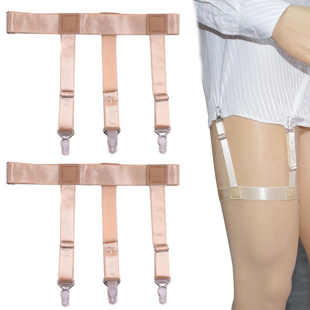 Men's Suspenders Provided Mens Fashion Stripe Shirt Stays Holders For Men Adjustable Elastic Shirt Garters Leg Suspenders Non-slip Clamp Skin-friendly Wide Selection;