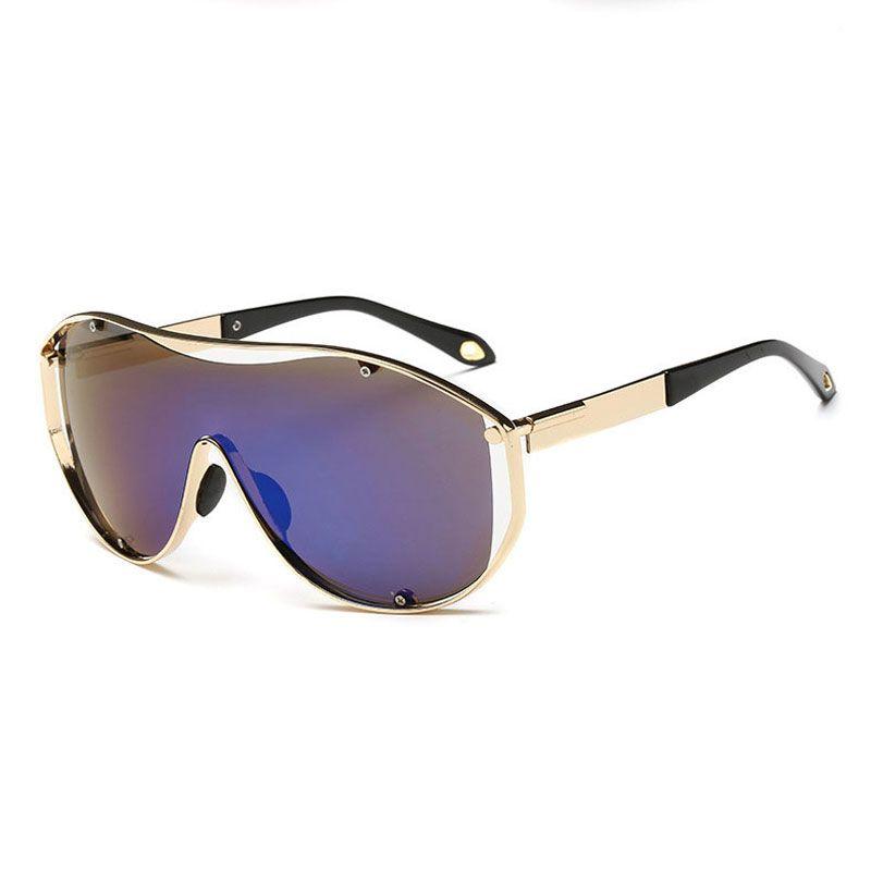ed6320ae7a7 High Quality 2018 Big Frame Pilot Sunglasses Men Metal Tide Unisex Fashion  Glasses Personality Trend Sunglasses Best Price Wholesale Goggle Baby  Sunglasses ...