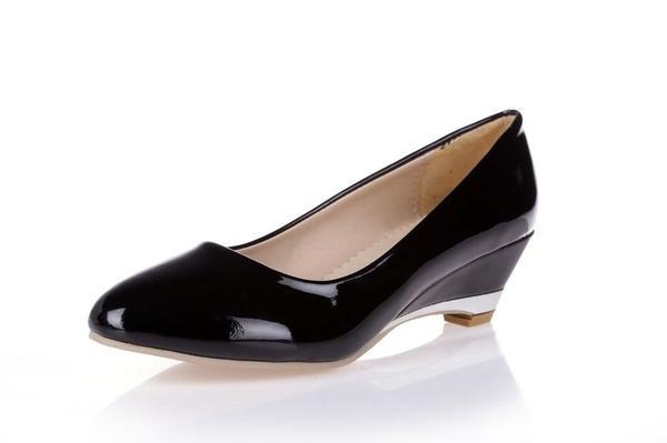 48 Grande Amarillo De Brillo De Zapatos Bombas Bajo De Negro Rojo Talla 30 Mujer Cuñas Zapatos Primavera Puntiaguda Tacón A Otoño Nuevo Compre Charol Blanco 1q5txg78