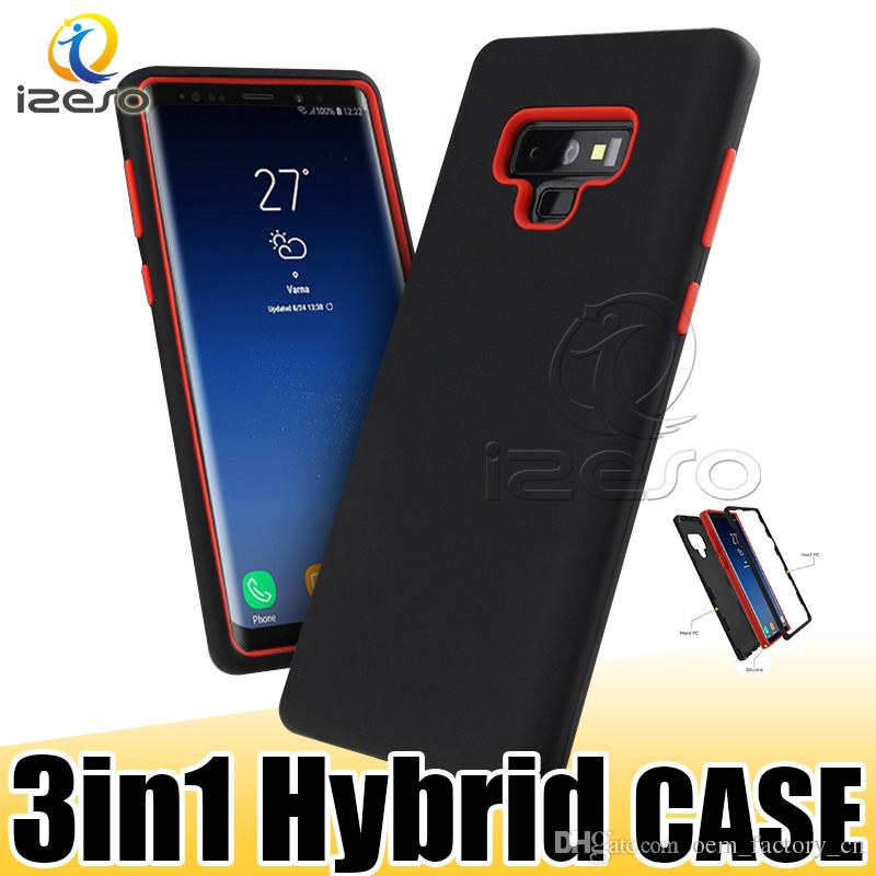 3 in 1 Hybrid Armor Case for iPhone XS MAX XR X 8 7 6s Samsung S10 Note9 S9 Plus A9 J6 2018