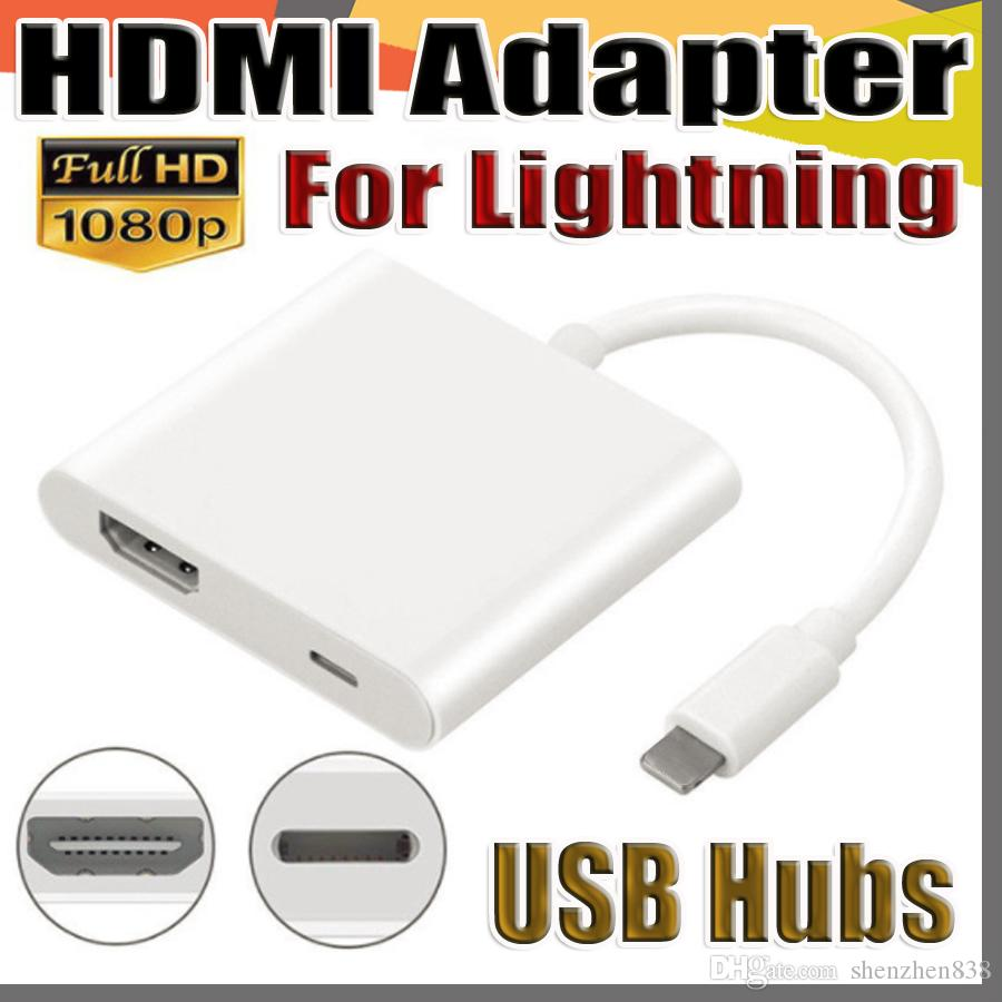 139f92c2f18 Compre Lightning Digital Adaptador AV Para Apple Iphone HDMI Cabo Adaptador  Branco Pacote De Alta Qualidade Frete Grátis DHL De Shenzhen838, ...