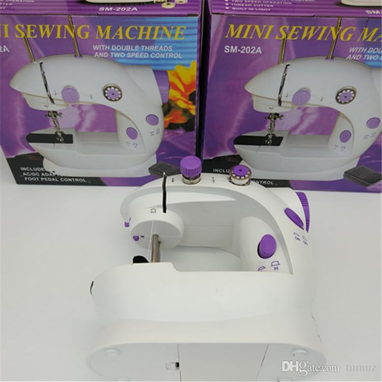 آلة الخياطة المنزلية ، آلة الخياطة الكهربائية ، مصغرة متعددة الوظائف ، مع مصباح مع آلة الخياطة سكين