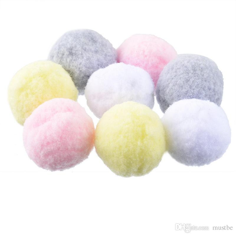 Hoomall Multicolor Pompoms Ball Fur Craft DIY Soft Pom Poms Wedding Home Decoration Sewing On Cloth Accessories Round 3cm