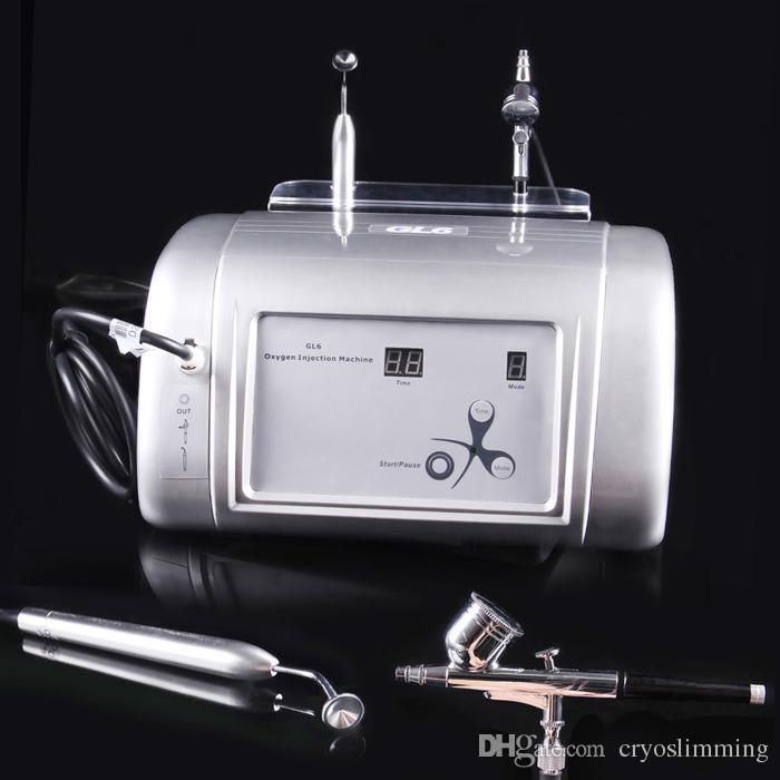 جديد المحمولة آلة الأكسجين المياه جيت قشر 99٪ نقية الأكسجين آلة الوجه حقن الأكسجين أو إزالة حب الشباب علاج الجلد تجديد