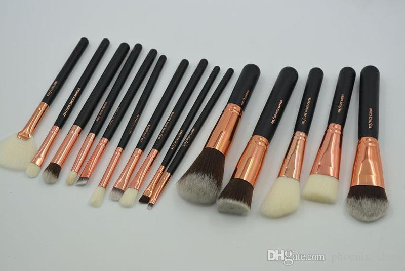 Kit pennelli trucco Set 15 pezzi Pennelli professionali Pennello cipria Blush Make up Pennelli Kit pennelli ombretto DHL spedizione gratuita