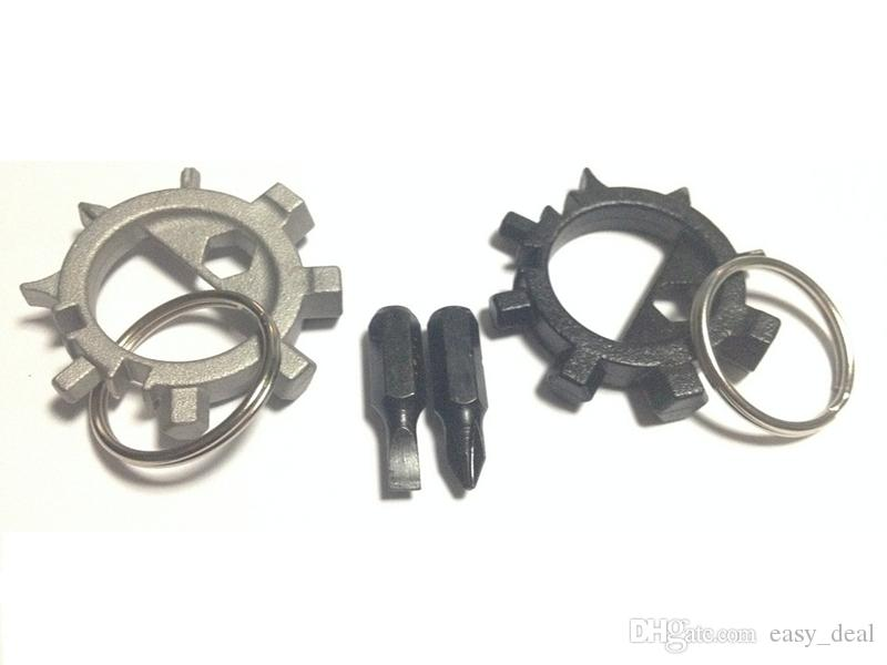 10 in 1 Multifunctional Outdoor Keychain Screwdriver Bicycle Repair Tools EDC Tools Kits portable Octopus daily repair tool F20172880
