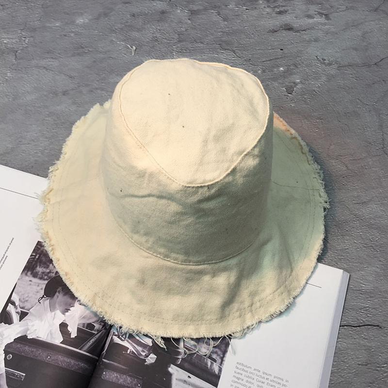 Apparel Accessories Women's Bucket Hats New Fashion Solid Color Cotton Bucket Hats Women Panama Fishing Hats Femme Summer Sun Beach Fisherman Cap Hats Chapeau Femme