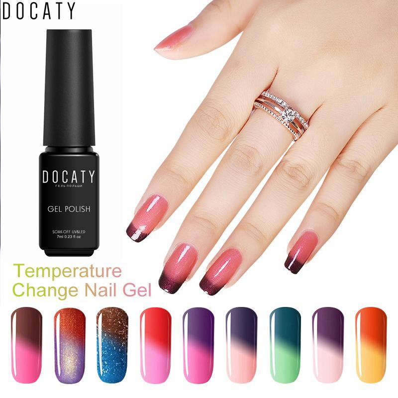Docaty Luckly Thermal Color Changing Nail Gel Polish Mood Nail