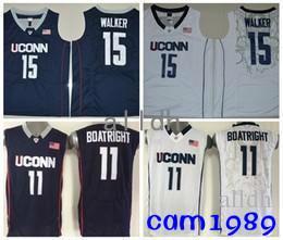 the latest 4e2db 4acb8 2018 Kemba Walker Uconn Huskies College Basketball Jerseys 15 Kemba Walker  11 Ryan Boatright Shirts Stitched University Basketball Jersey