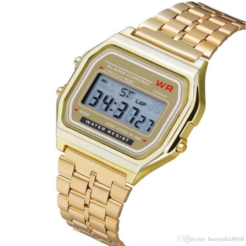 1ad0591bfaf Compre 2018 Frete Grátis F 91W Correndo Relógios Moda Ultra Fino LED  Relógios De Pulso F91W Homens Mulheres Casual Sport Watch De Haoyunlai8668