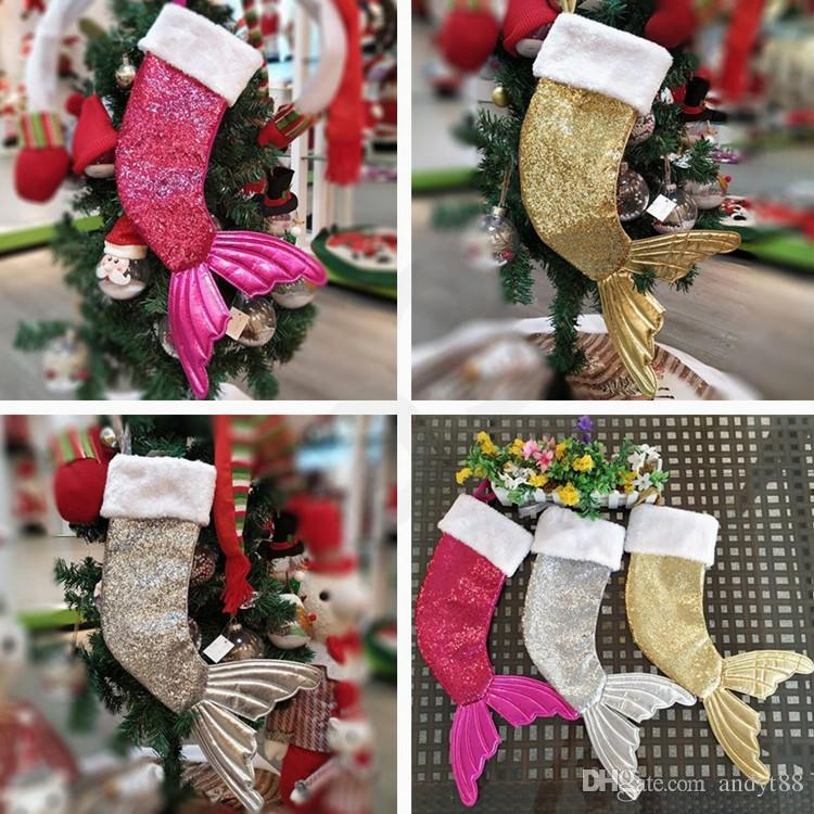 Nuevo Navidad De Ornamento Estilo CALIENTE Medias Sirena Compre ZwAqUZ