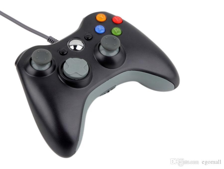 Game Controller für Xbox 360 Gamepad Schwarz USB Draht PC für XBOX 360 Joypad Joystick Zubehör für Laptop PC