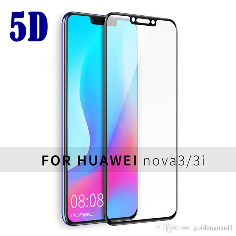For Huawei Nova 3 3i 3E 2i Tempered Glass Full Glue Full Coverage Cover  Screen Protector For Huawei Mate 20 Lite 10 Pro