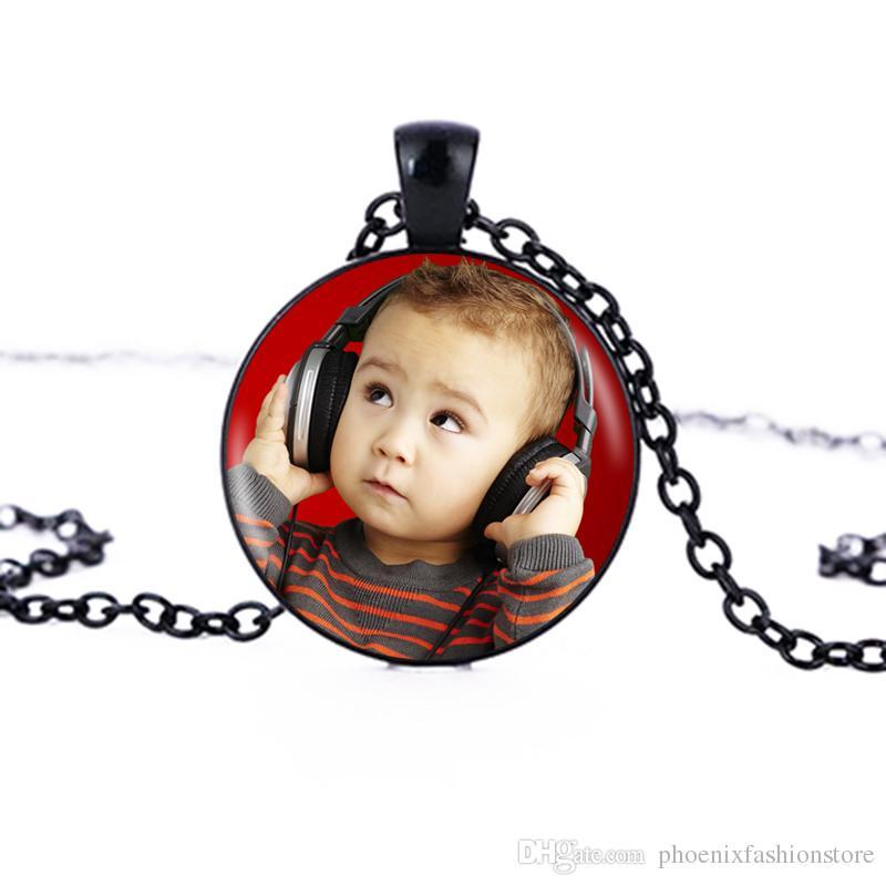 Personalizado Imagem Pingente Qualquer coisa Foto Personalizada Colar Seu Bebê Criança Mãe Pai Avô Amor Presente para a Família Presente