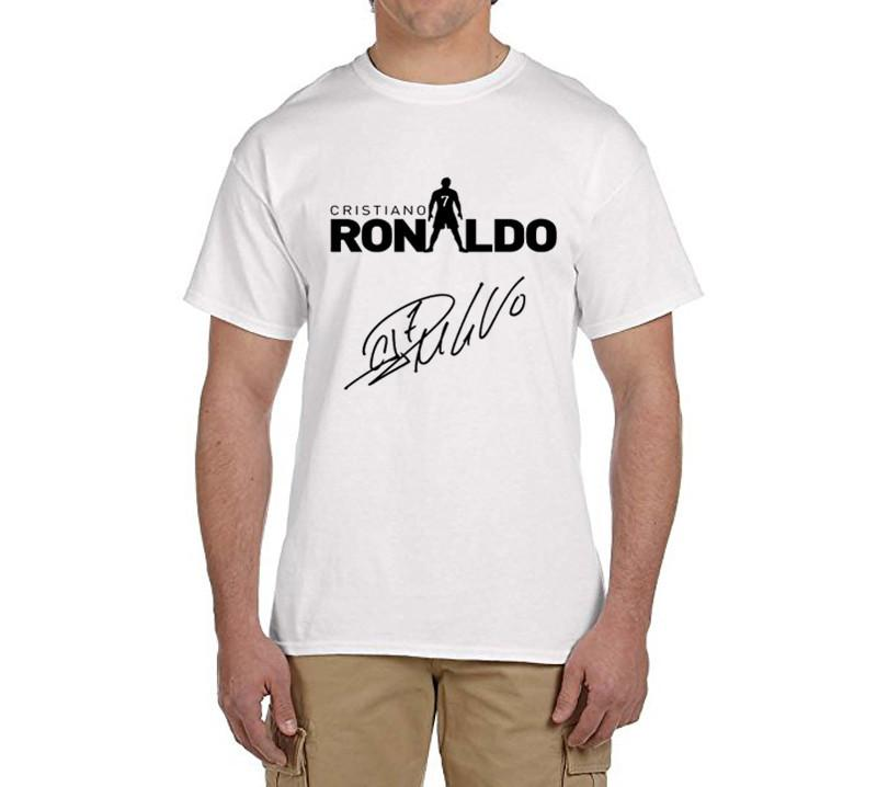 check out 8c284 4fa76 Cristiano ronaldo signed CR7 tee 100% cotton cool t shirts Mens o-neck  fashion T-shirts fans gift 0216-17