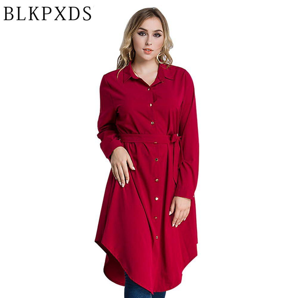 db7c634ab3b 2019 2018 New Loose Button Loose Malaysia Female Asymmetrical Clothing Plus  Size Blouses Shirts Summer Casual Women Clothes From Edward03