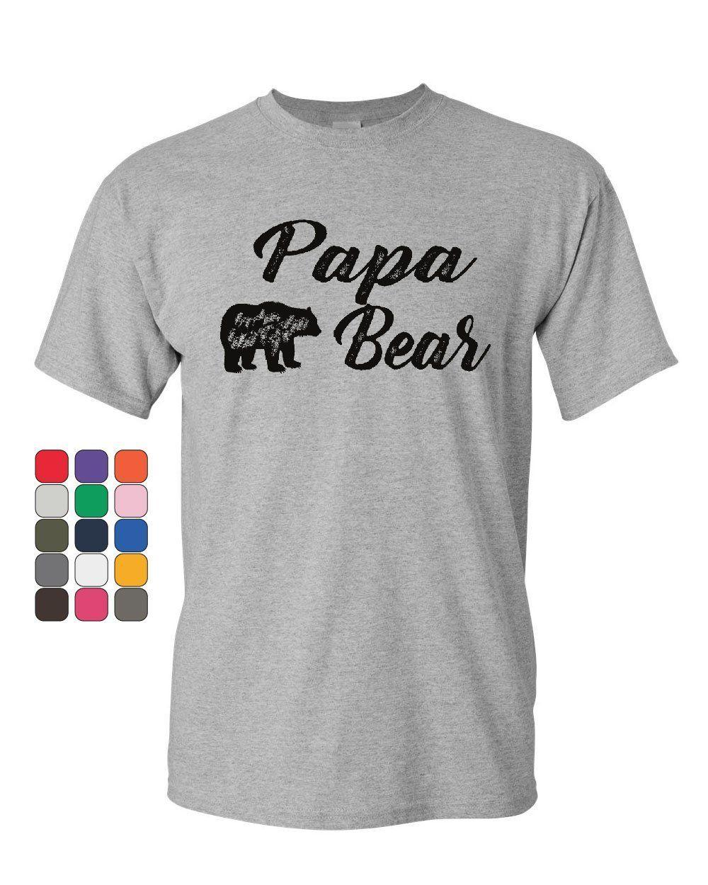 3075807e7 Papa Bear T-Shirt For Dad Father's Day Protector of the Family Mens Tee  ShirtFunny free shipping Unisex Casual tshirt gift