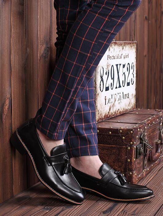 Мужские туфли мужские ткацкие черные дизайнерские мужские деловые туфли с кисточками Homecoming обувь для жениха США
