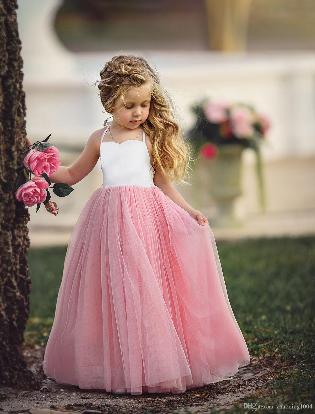 3d6d1a9f0478 2019 Designer Flower Girls Dresses For Weddings Toddler Pageant Dress  Flowergirl Summer Dresses Kid First Communion Clothing Lace Party Clothes  From ...