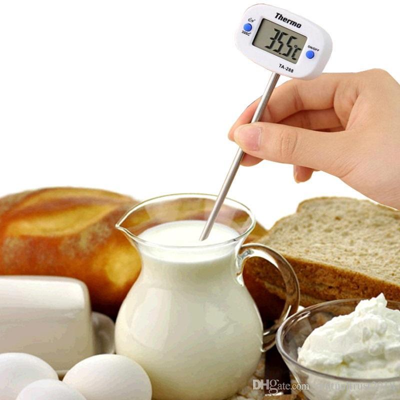 Rotativo Digital de Alimentos Termómetro BBQ Carne Horno de Chocolate Leche Agua Aceite Cocinar Cocina Termómetro Sonda Electrónica Medidor de Temperatura