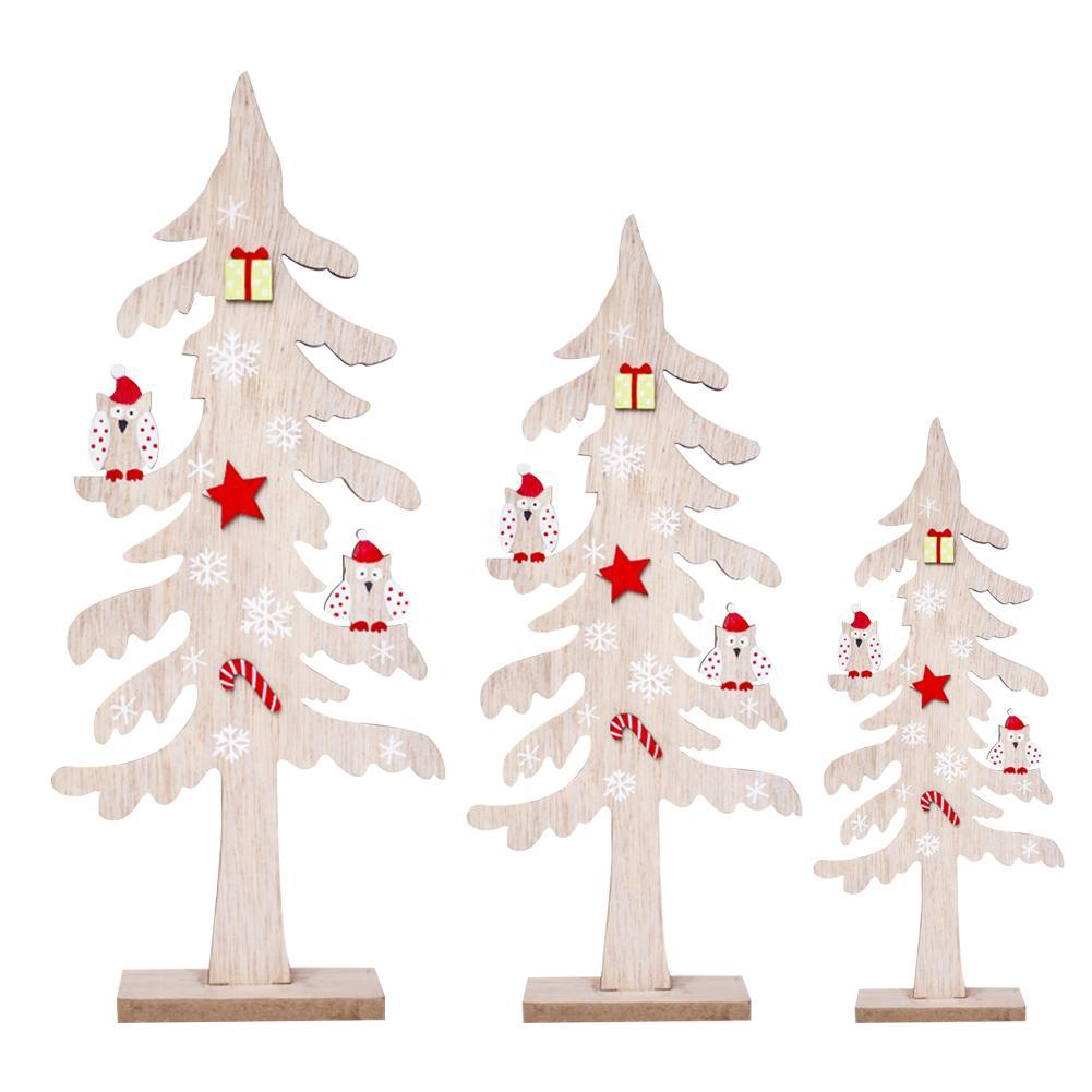 Wooden Christmas Crafts.Wooden Christmas Tree Diy Arts Crafts Decoration Artificial Wooden Decorations For Home Xmas Tree New Year Decor Navidad S2