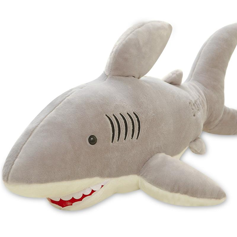 2019 Shark Plush Toy Cute Long Stripe Sleeping Pillow Great White