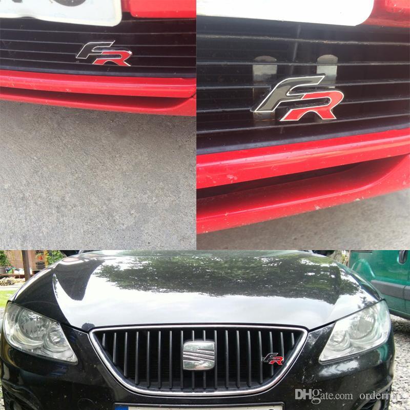 Metall FR Racing Car Kühlergrill Abzeichen hinten Emblem Auto Heck Aufkleber für Audi BMW SEAT Ibiza Leon Altea Car Styling