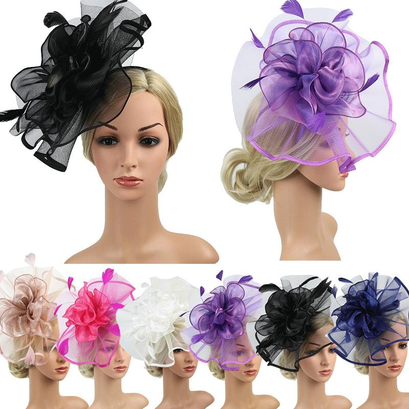 6ce88cad07f0c Velling Hair Accessories Elegant Lady Feather Mesh Birdcage Party Wedding  Imitation Veil Headwear Fascinator Hairpin With Clip Hair Jewels Jeweled  Hair Pins ...