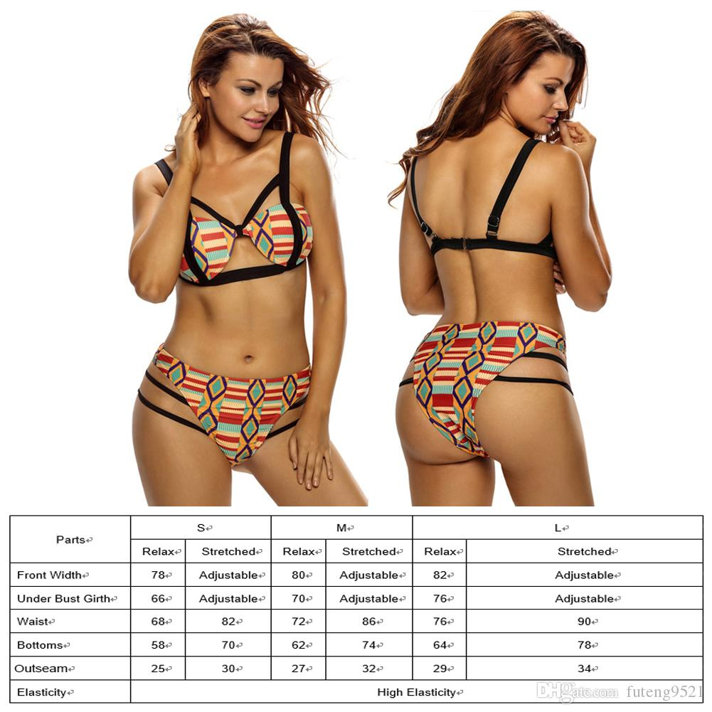 Fashion Ladies Sexy Bikini Retro Printing Two Piece High Waist Swimsuit Blackless Tankini With Strap Corset