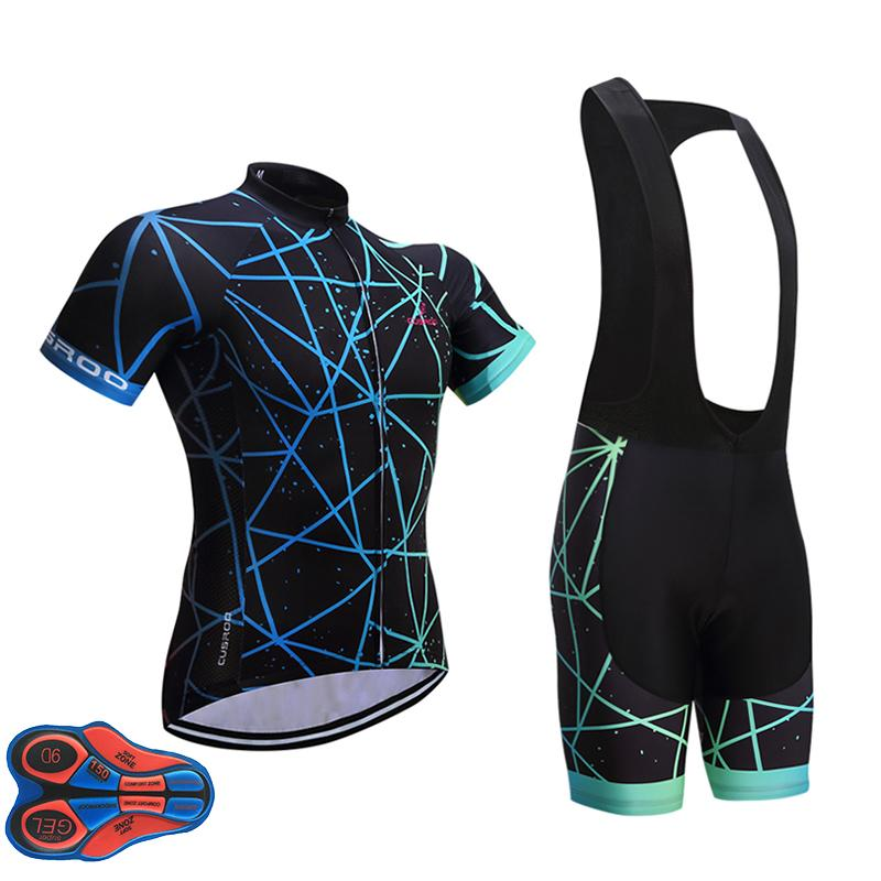 2018 Men Cycling Jersey Set Short Sleeve Outdoor Sports Black ... ea7c7fc13