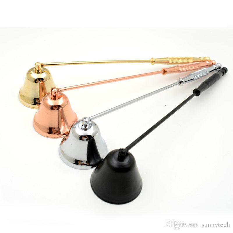 Bougie en acier inoxydable coupe-flammes mèche coupe-flammes coupe-flammes en forme de cloche lampe à huile coupe-cire bougie extincteur ZA6049