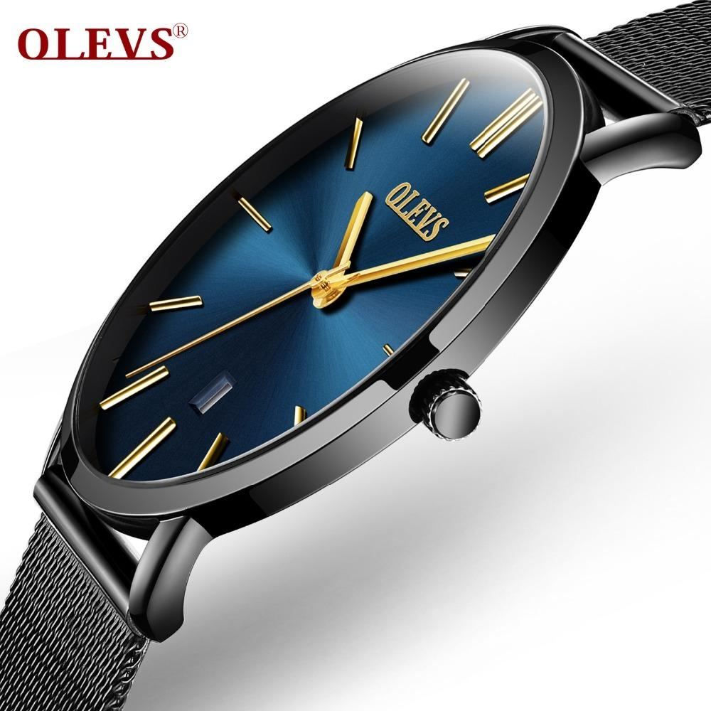 ad194b86f89e Compre Relojes Ultrafinos Para Hombre Reloj De Cuarzo Resistente Al Agua  Reloj De Pulsera De Acero Inoxidable Con Fecha Reloj Calendario Relogio  Masculino ...