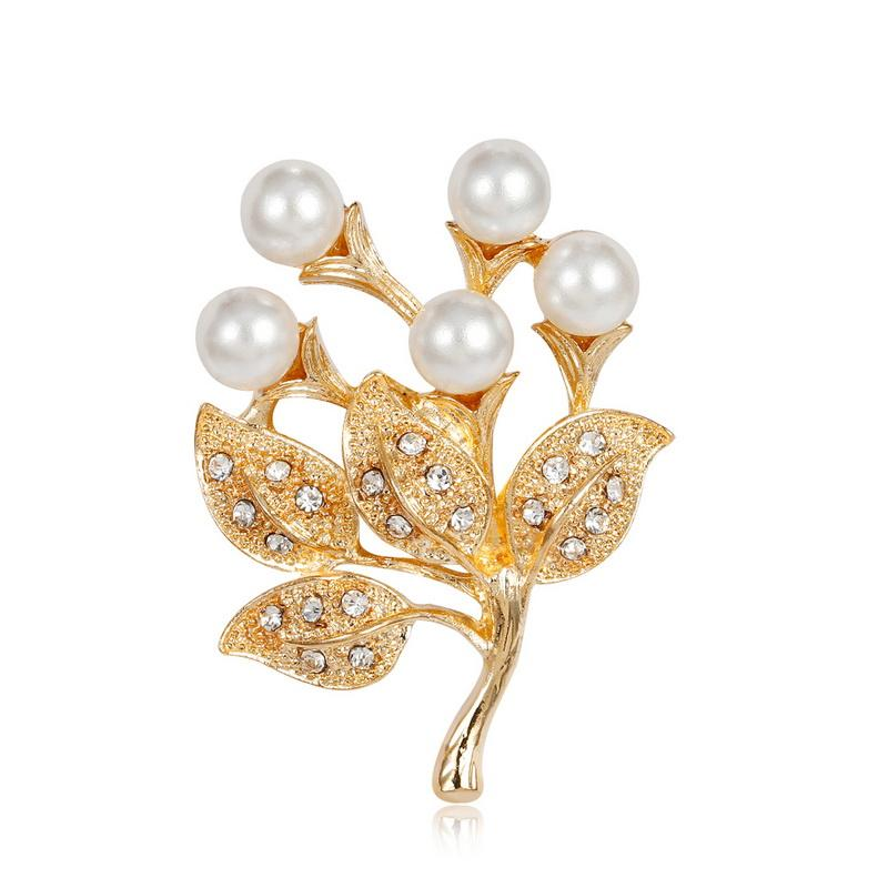 9386d603d 2019 Vintage Brooch Hijab Pins Wedding Bouquets Accessory Jewelry Bouquet  Plant Leaf Women Brooches Enamel Flower Imitation Pearl From Sihuoguo, ...