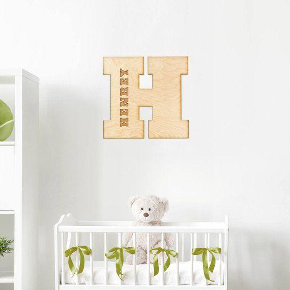 2019 Block Letter Engraved Wood Sign Custom Monogram Gift