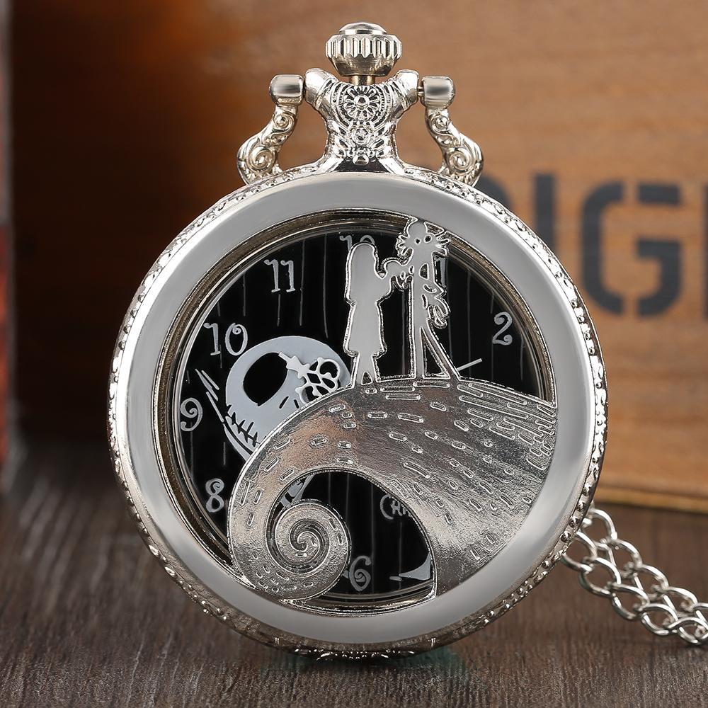 Steampunk Men Women Silver Fob Watch Nightmare Before Christmas ...