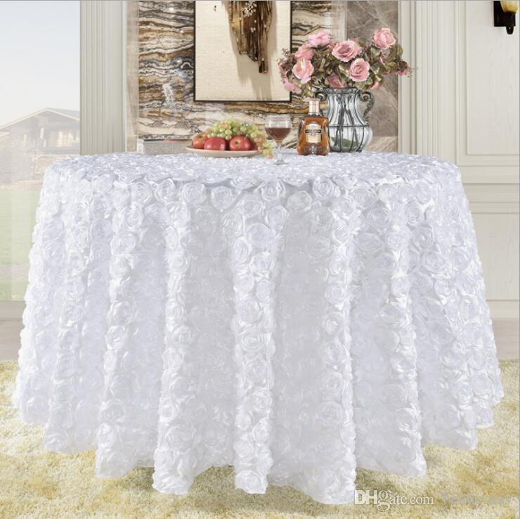 Wedding Cake Table.Great Gatsby 3d Rose Flowers Wedding Table Cloth Round And Wedding Cake Table Idea Masquerade Birthday Party White Burgundy Yellow