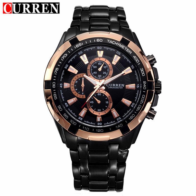 030fbfdd9f9 Curren Watch Mens Brand Luxury Black Stainless Steel Quartz Wrist Watches  Waterproof Sport Male Clock Relogio Masculino Buy Cheap Watches Online Buy  Cheap ...