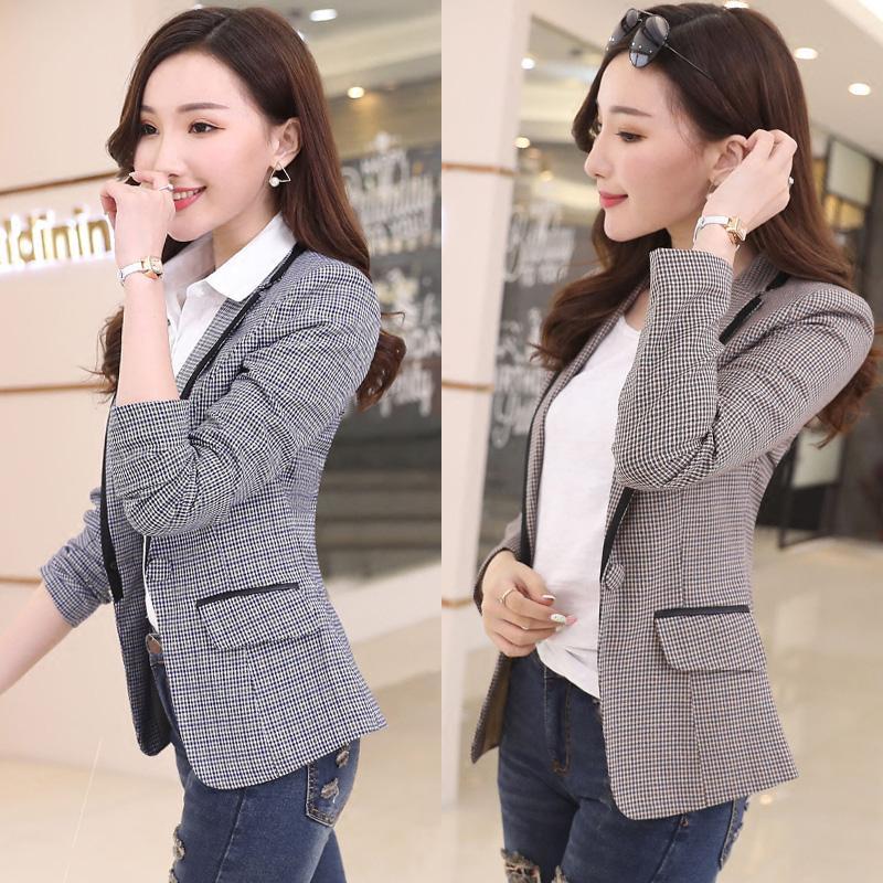 Acquista 2018 Donne Blazer Scozzesi E Giacche Suit Ladies Manica Lunga  Giacca Da Lavoro Blazer Plus Size Casual Capispalla Donna Work Coat 865   A   40.22 ... 291f76c2c25